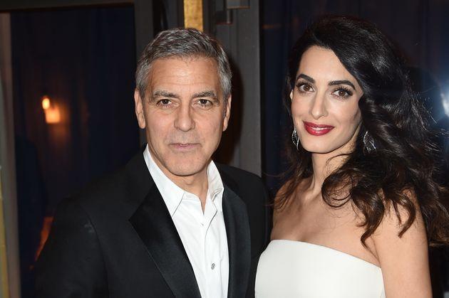 George Clooney y Amal Clooney antes del nacimiento de sus