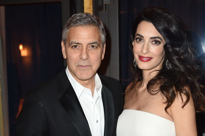 George Clooney and Amal Clooney pictured before the twins were born.