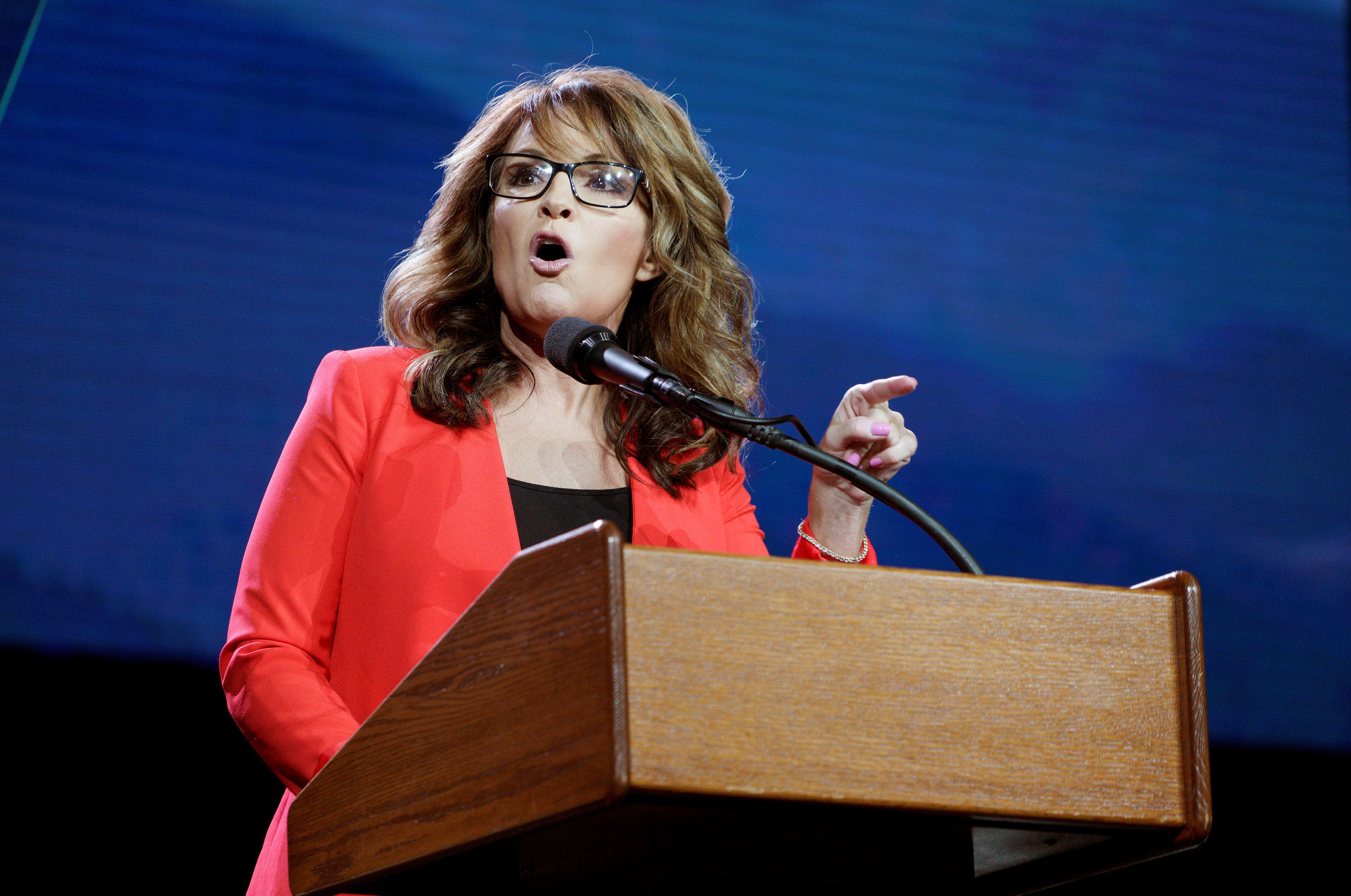 Sarah Palin speaks at the Western Conservative Summit in Denver, Colorado, U.S., July 1, 2016. REUTERS/Rick Wilking