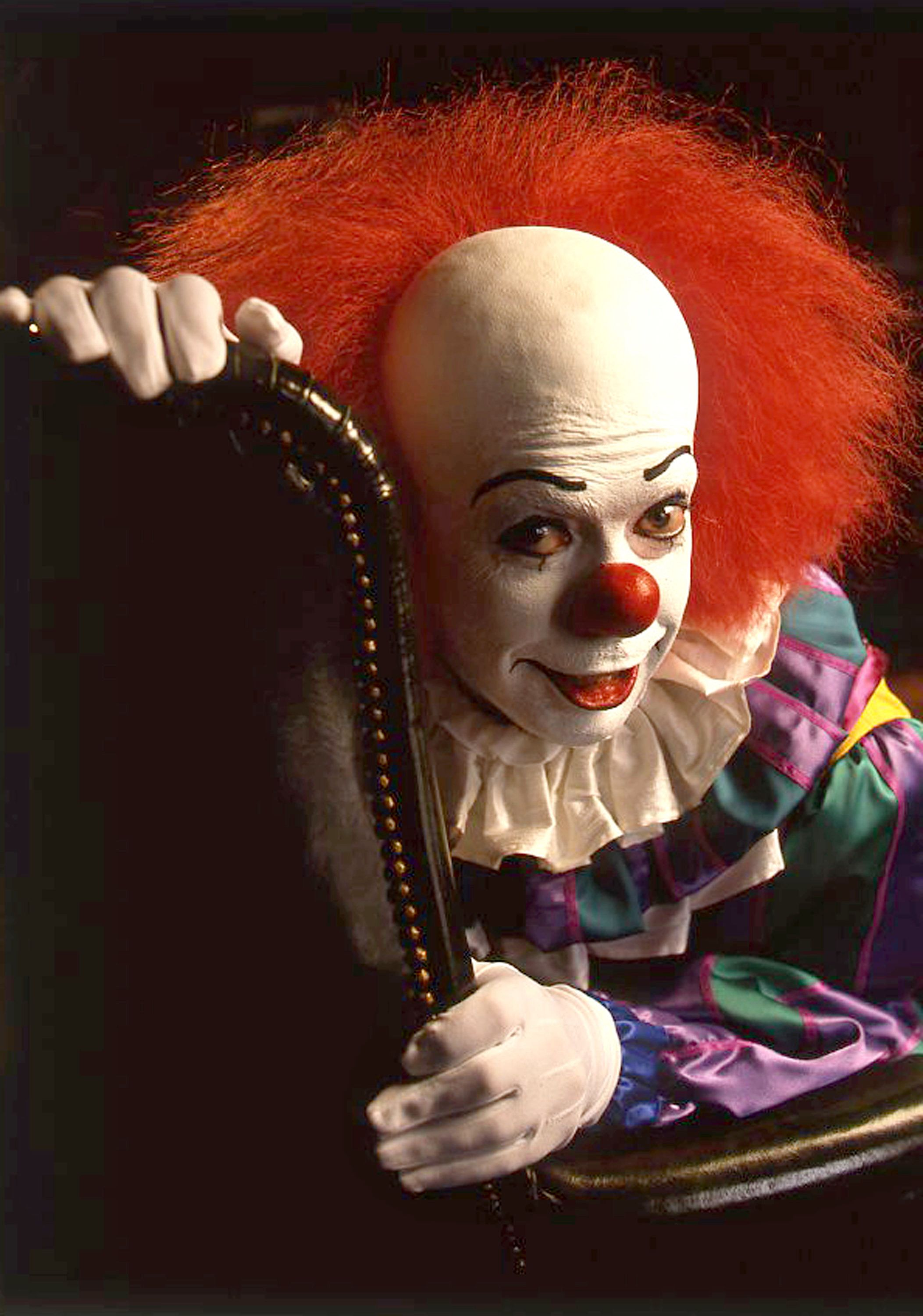 Stephen King's 'IT' - 11/18 and 11/20/90 In this ABC Novel for Television based on the best-selling Stephen King novel,  played Ben 'Haystack' Hanscom, one of seven childhood friends who are reunited in their middle ages to confront an evil entity (a clown named Pennywise).  (Photo by Bob D'Amico/ABC via Getty Images) TIM CURRY