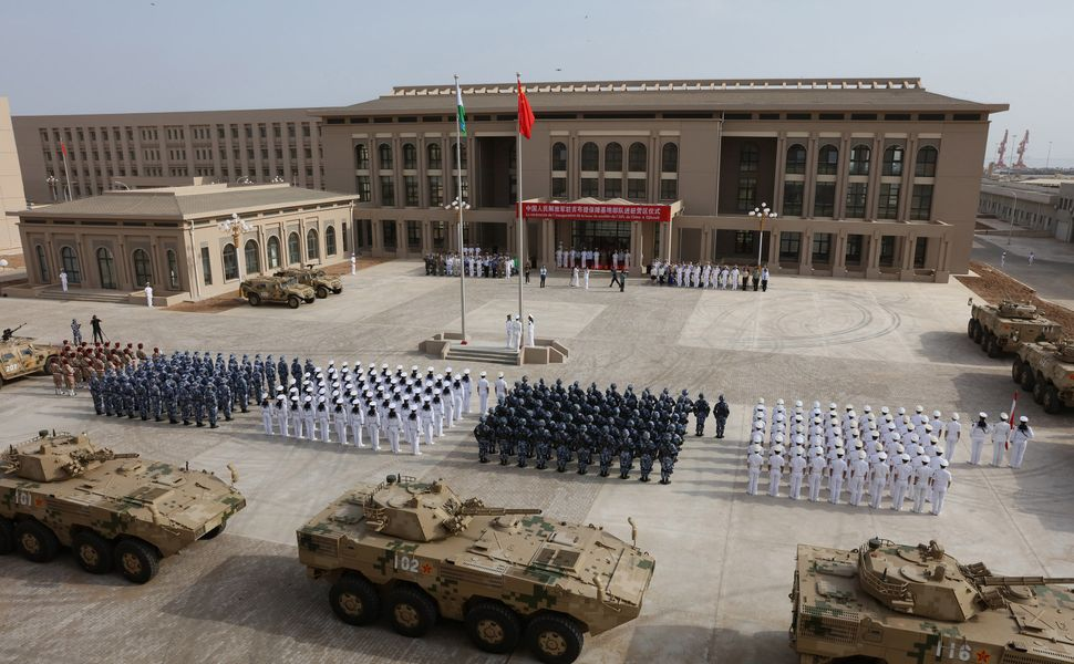China recently deployed troops to its first overseas naval base in Djibouti.