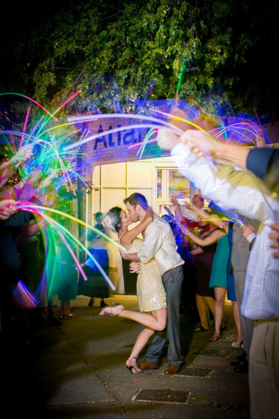 A colorful spin on the beloved sparkler sendoff -- without the fire hazard.