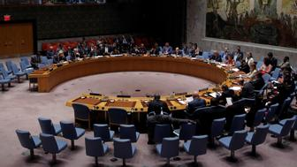 The United Nations Security Council sits to meet on North Korea after their latest missile test, at the U.N. headquarters in New York City, U.S., August 29, 2017.  REUTERS/Andrew Kelly