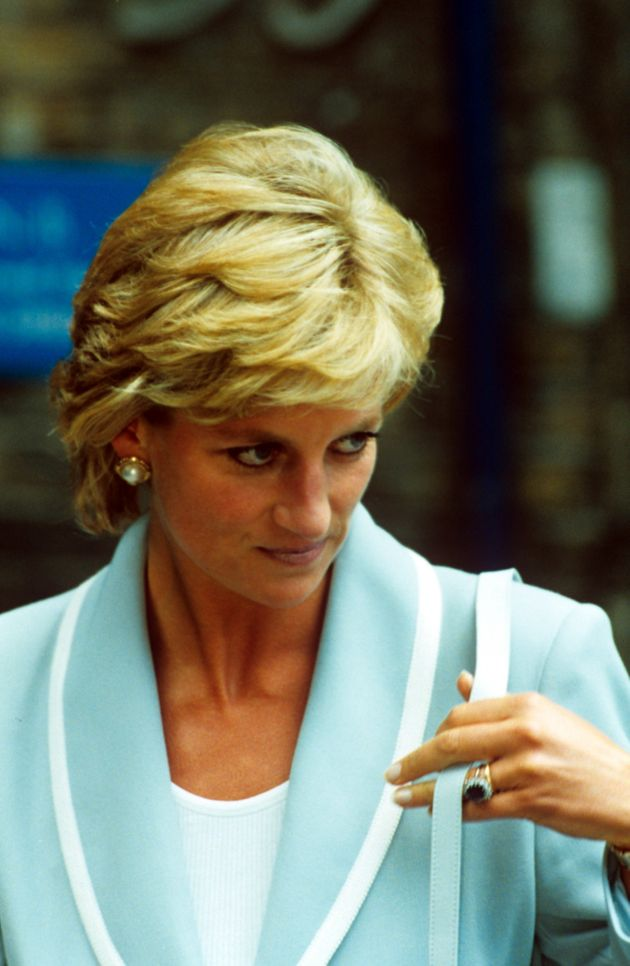 Princess Diana pictured a year before her