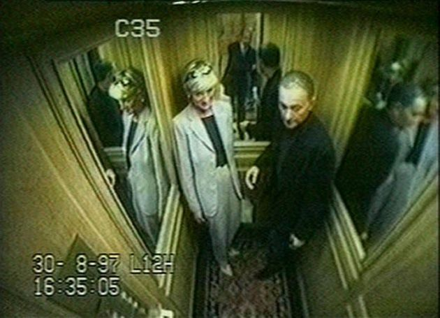 The couple were captured on CCTV in a hotel