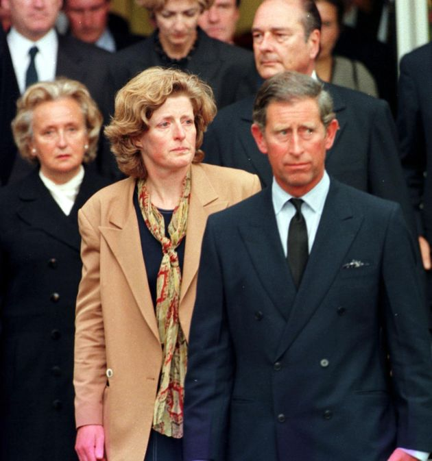 Prince Charles arrives in France with Diana's sisters Lady Sarah and Lady