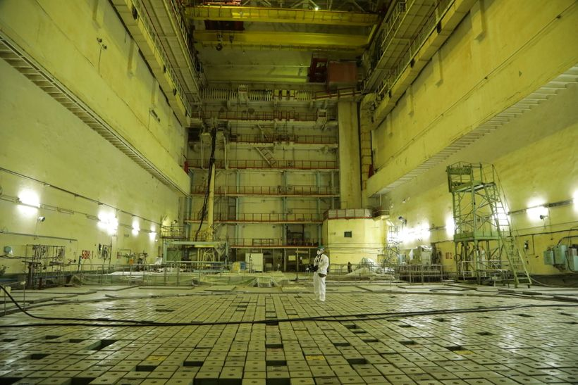 Inside of nuclear installation at Chernobyl.