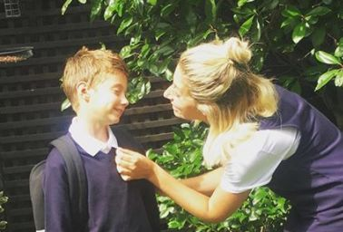 Stacey Solomon Tries Not To 'Embarrass' Her Son On His First Day Back To