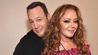 NEW YORK, NY - APRIL 05:  Kevin James and Leah Remini backstage before Billy Joel perfoms at the newly rennovated Nassau Coliseum, Long Island on April 5, 2017 in New York City.  (Photo by Kevin Mazur/Getty Images)