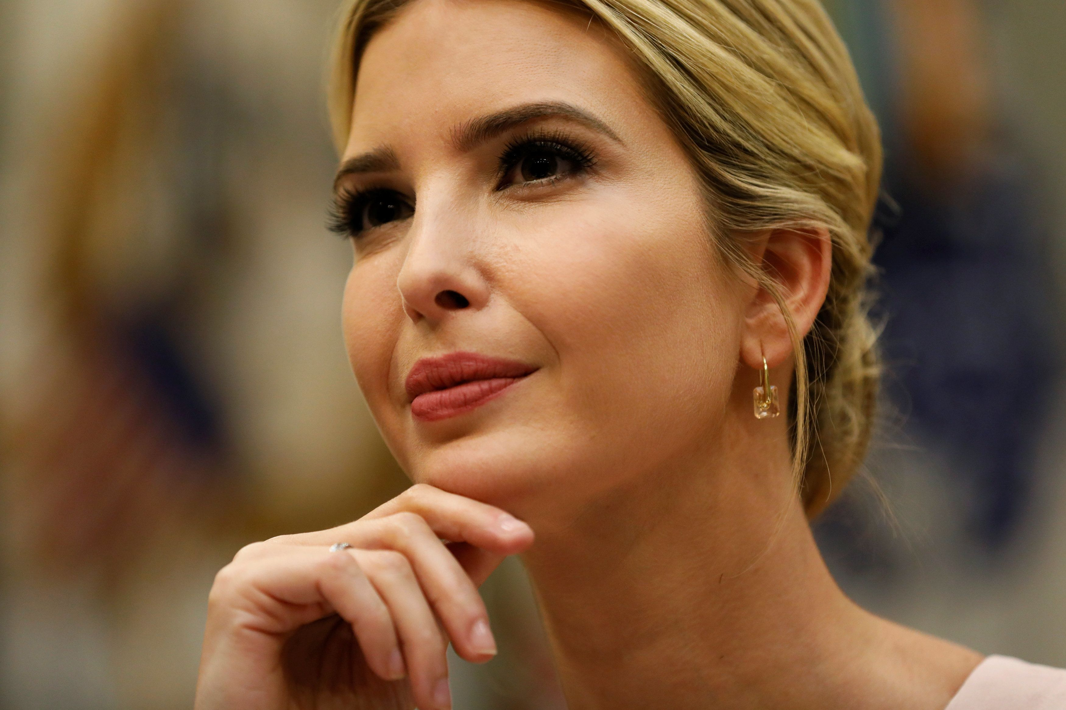 White House senior advisor Ivanka Trump leads a listening session with military spouses at the White House in Washington, U.S. August 2, 2017.  REUTERS/Jonathan Ernst
