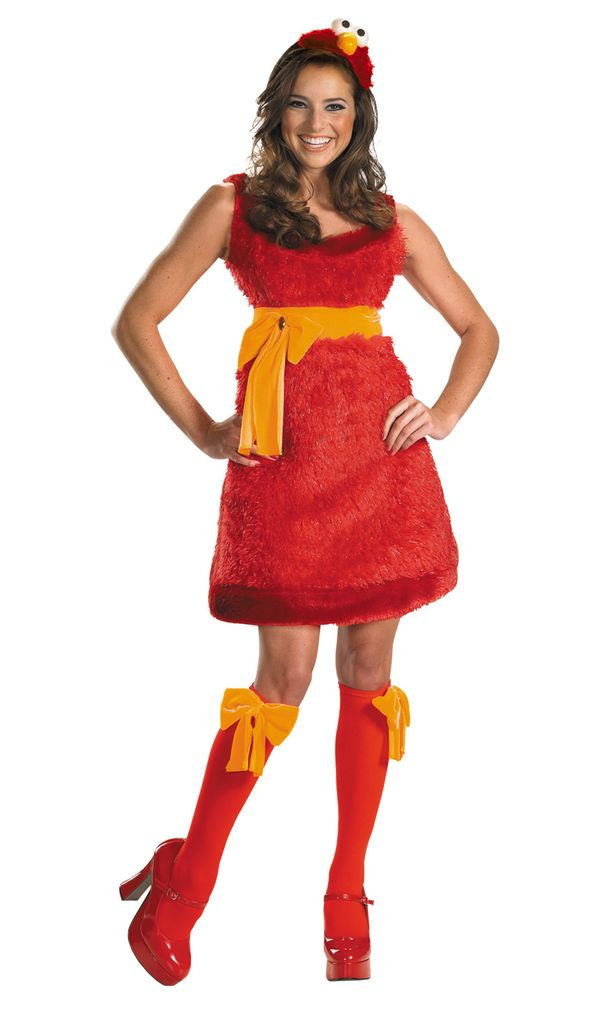"This <a href=""http://www.wondercostumes.com/elmo-sassy-costume-sesame-ptescss.html"" target=""_blank"">Elmo costume</a> is the p"