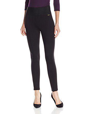 9ffaf9cf2beee9 Calvin Klein Women's Modern Essential Power Stretch Legging with Waistband.  Amazon