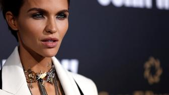 """Cast member Ruby Rose poses at the premiere of the movie """"John Wick: Chapter 2"""" in Los Angeles, California U.S., January 30, 2017.   REUTERS/Mario Anzuoni"""