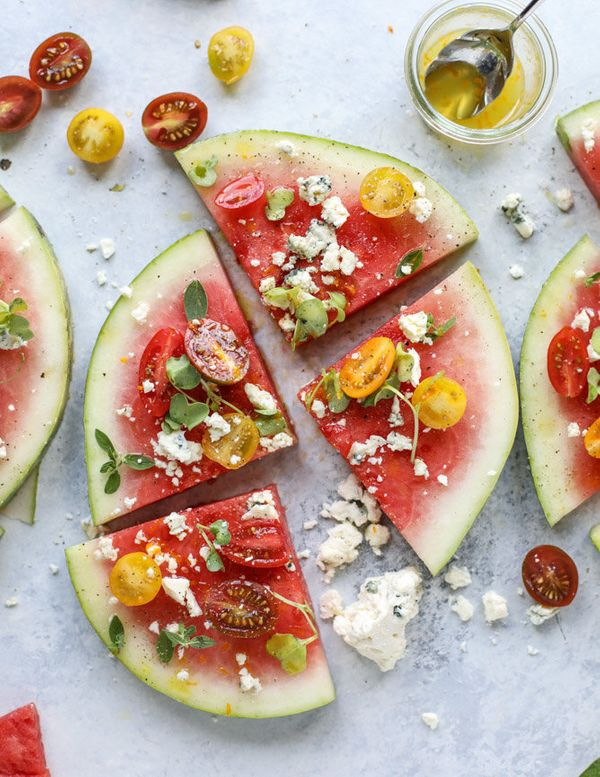 "<strong>Get the <a href=""http://www.howsweeteats.com/2017/07/watermelon-salad-wedges-blue-cheese/"" target=""_blank"">Watermelon"