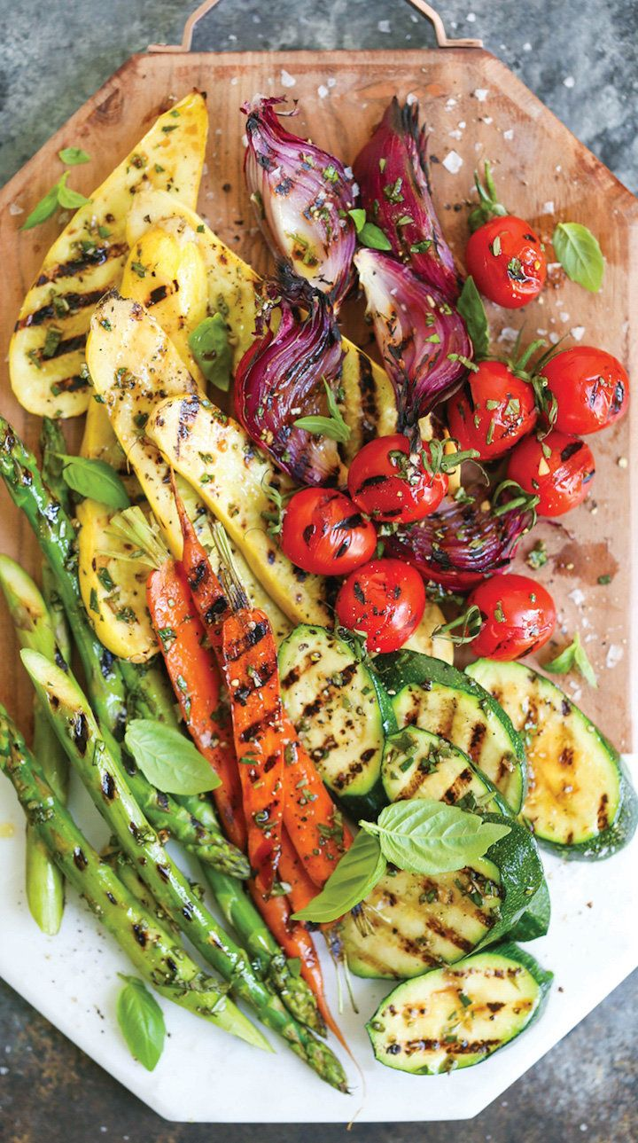 "<strong>Get the <a href=""http://damndelicious.net/2017/07/05/grilled-vegetable-platter/"" target=""_blank"">Grilled Vegetable Pl"