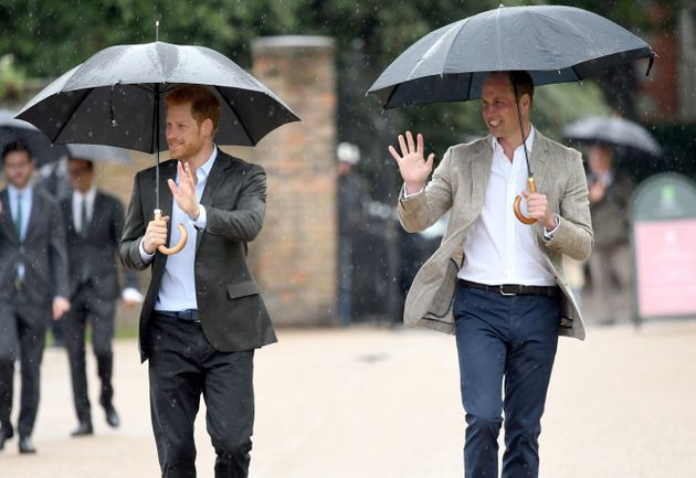Prince Harry and Prince William, Duke of Cambridge, meet well