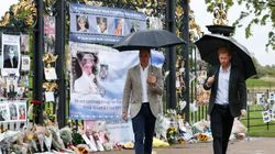 William And Harry Visit Diana Tributes On Eve Of Anniversary Of Her