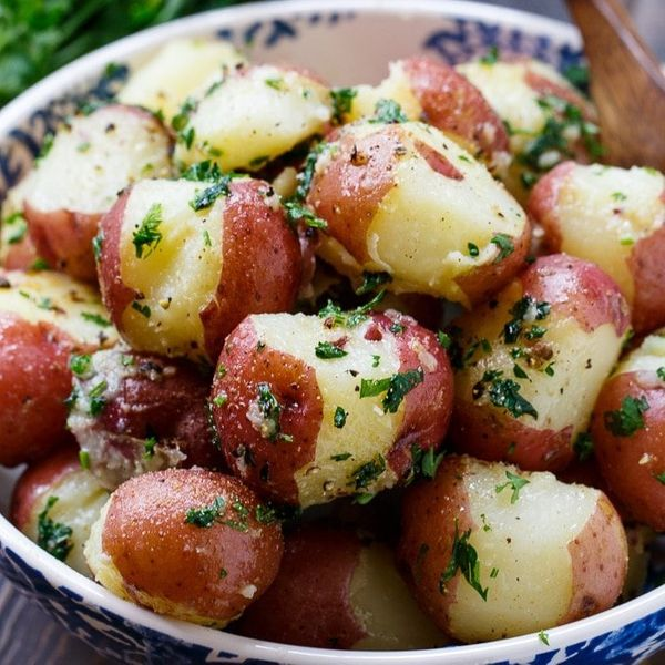 "<strong>Get the <a href=""https://spicysouthernkitchen.com/buttered-parsley-potatoes/"" target=""_blank"">Buttered Parsley Potato"