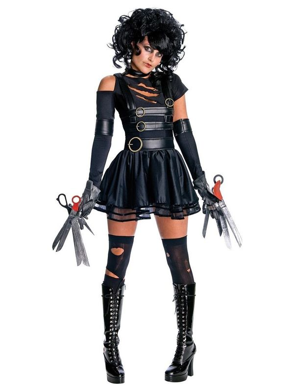 "This <a href=""https://www.costumesupercenter.com/products/sexy-womens-miss-edward-scissorhands-costume"" target=""_blank"">Sexy"