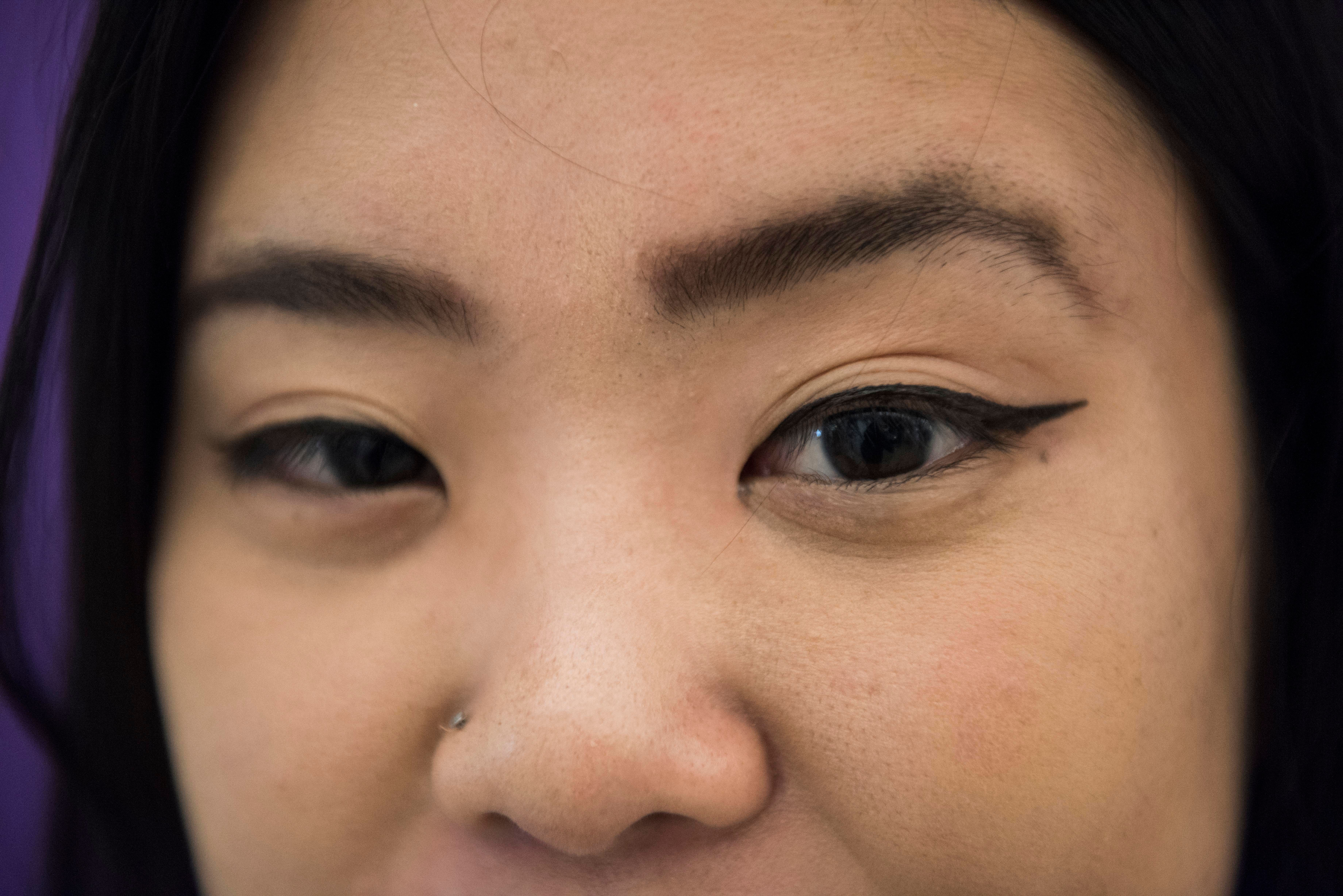 Difference in asian eyes