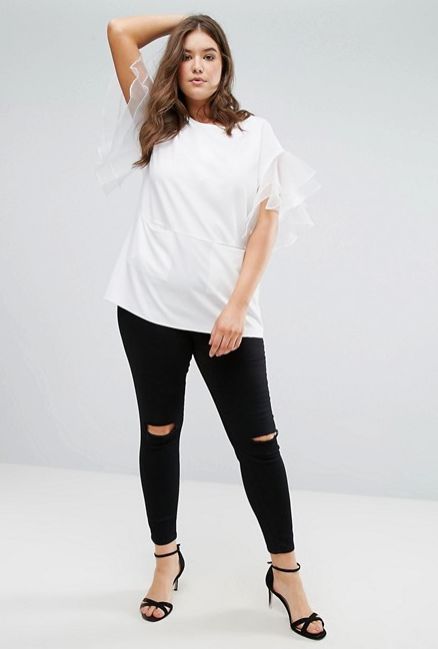 """<a href=""""http://us.asos.com/asos-curve/asos-curve-tunic-with-frill-sleeve/prd/8387519?clr=white&SearchQuery=&cid=1350"""