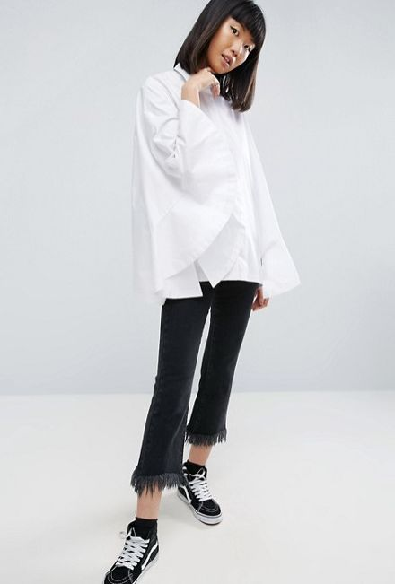 """Doesn't her breathable-cotton, machine-washable shirt look nearly impossible to clean??<a href=""""http://us.asos.com/asos"""