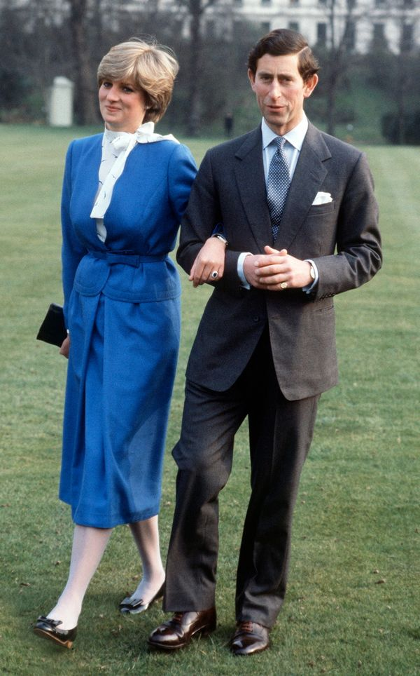 The day she and Prince Charles announced their engagement in London, England.