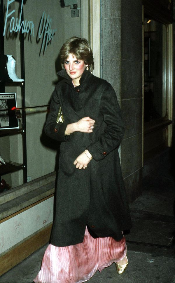 After Princess Margaret's 50th birthday party in London.
