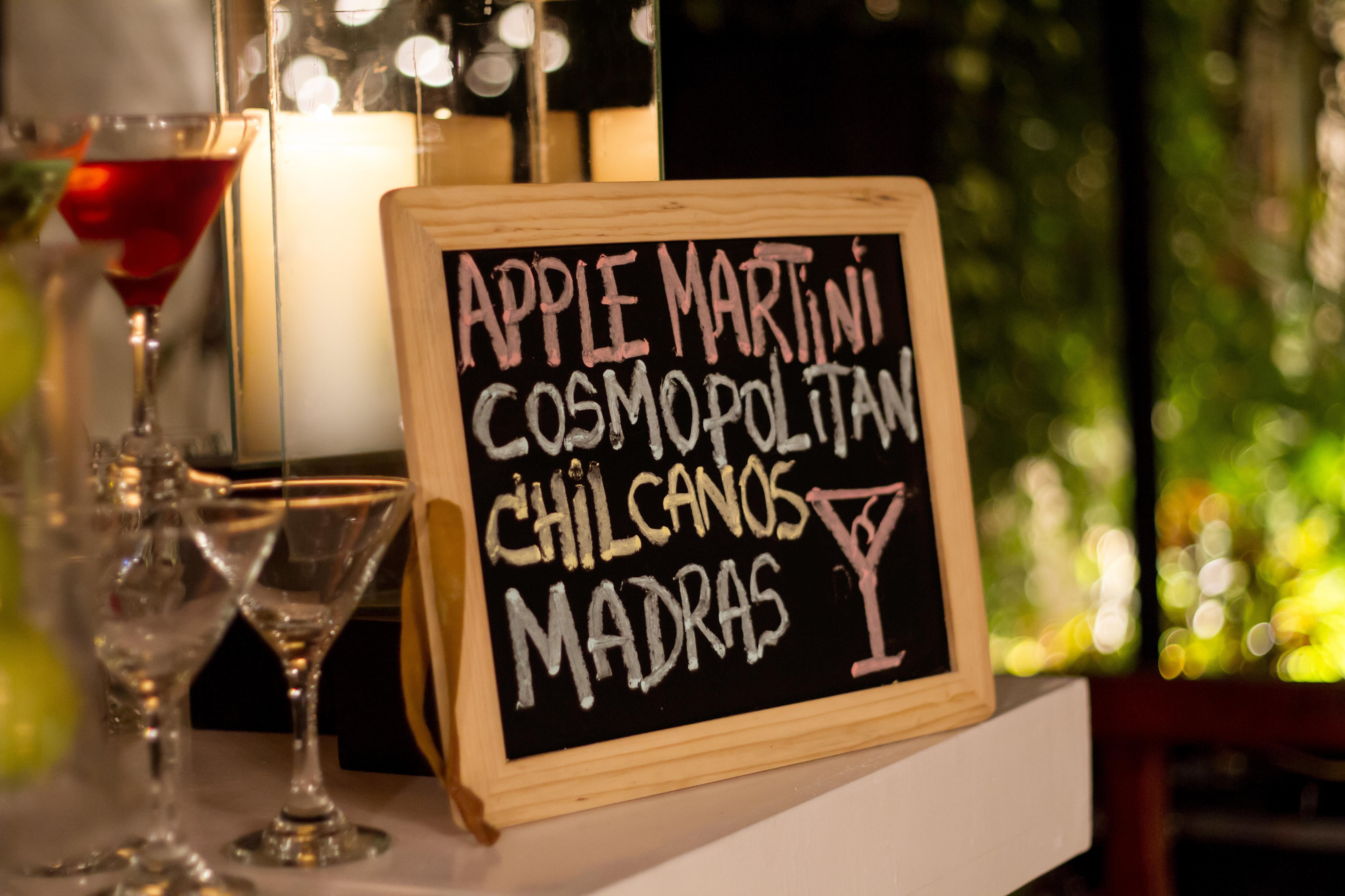 Wedding bar sign