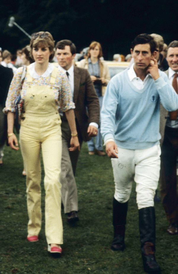 At a polo match with Prince Charles in Windsor.