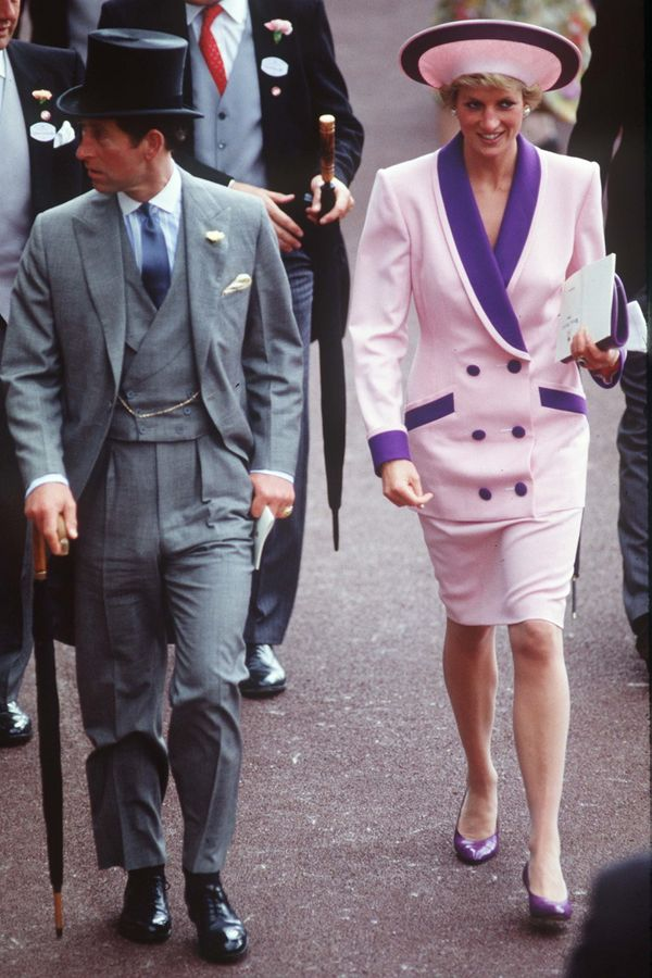 With Prince Charles atthe Ascot races.