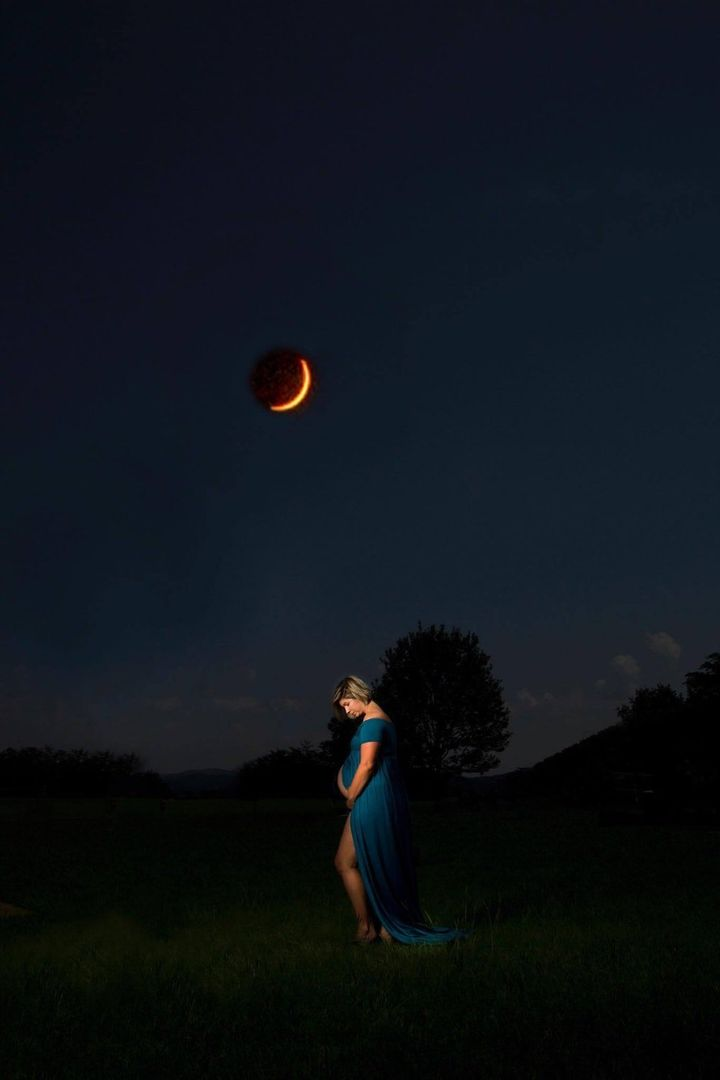 """When we heard about the eclipse, we knew we had to try to get the shot,"" Cruikshank told HuffPost."