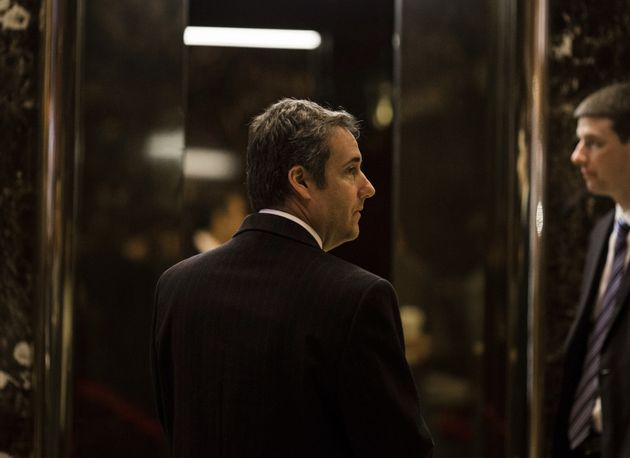 Attorney Michael Cohen arrives at Trump Tower in New York, Jan. 12,