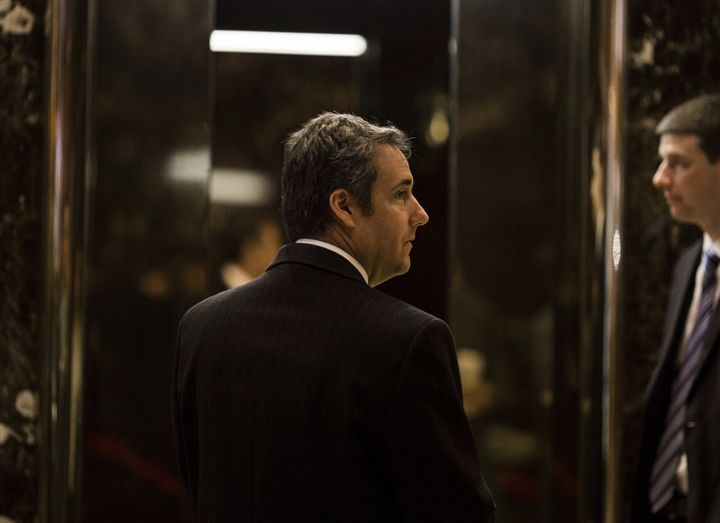 Attorney Michael Cohen arrives at Trump Tower in New York, Jan. 12, 2017.