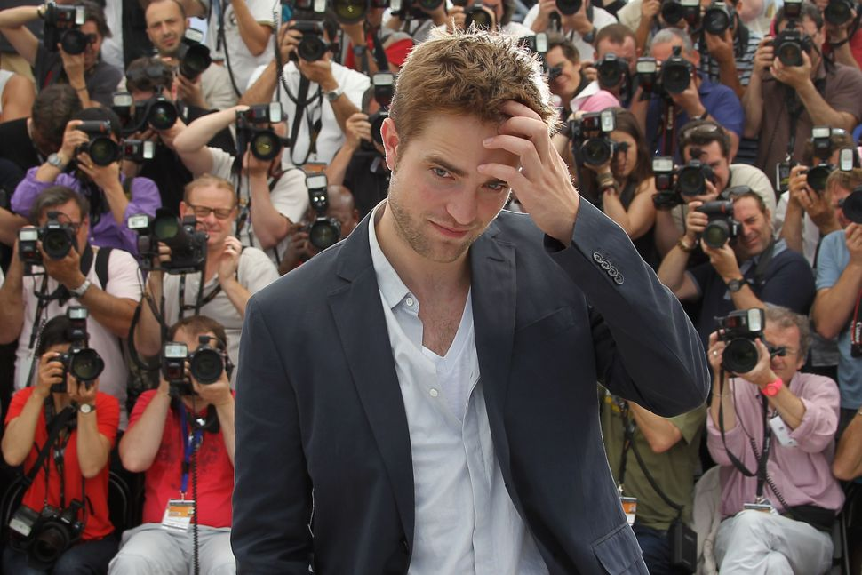 Robert Pattinson during a photocall at the 65th Cannes Film Festival.