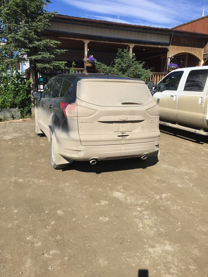 This is what a car that's been on the unpaved Dalton Highway looks like.