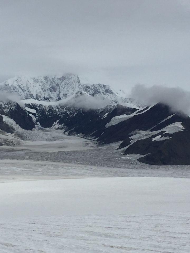 Where our ski plane landed on the glacier.