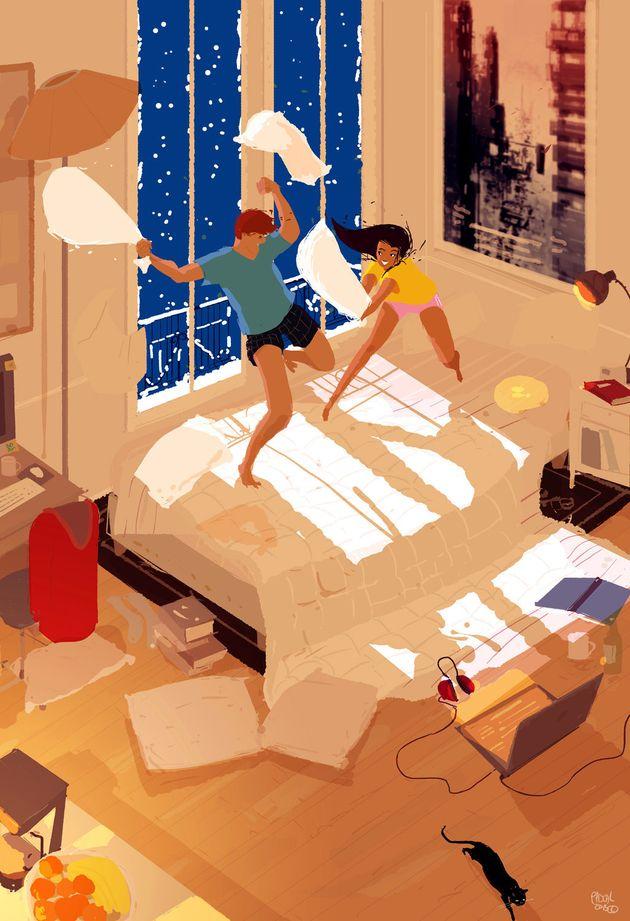 La mayor parte de las ilustraciones están basadas en experiencias reales o dramatizadas de su