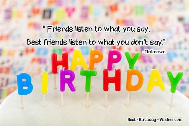 Birthday Wishes For Best Friend   Happy Birthday Best Friend