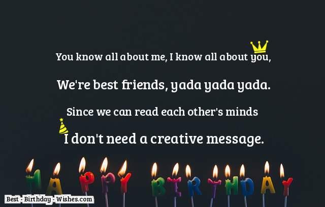 Birthday best friend quotes