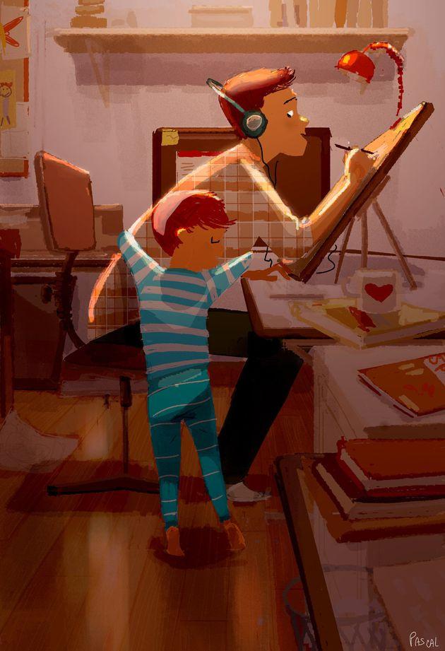 Un artista capta la belleza del amor en ilustraciones de su vida con su