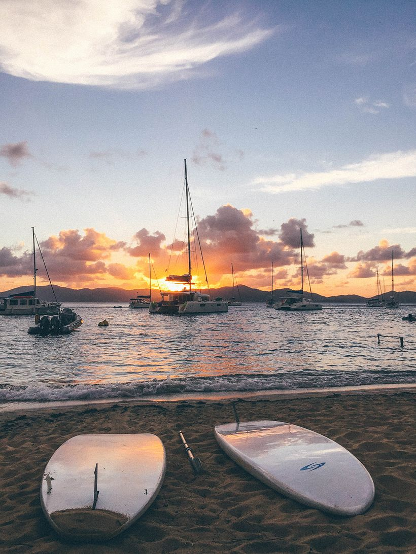 Sunset view from Cooper Island Beach Club