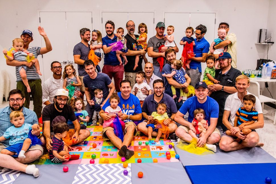 City Dads Group taking a Parent & Me Music And Movement class at the Playroom NYC in Manhattan.