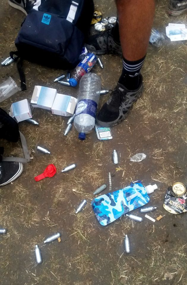 Two separate trials of people accused of selling laughing gas at music festivals were halted this week...