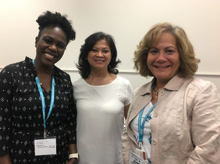 <p>Monique Mirabeau, Cece Nguyen and Joann Petillo at the Women's Networking Breakfast. </p>