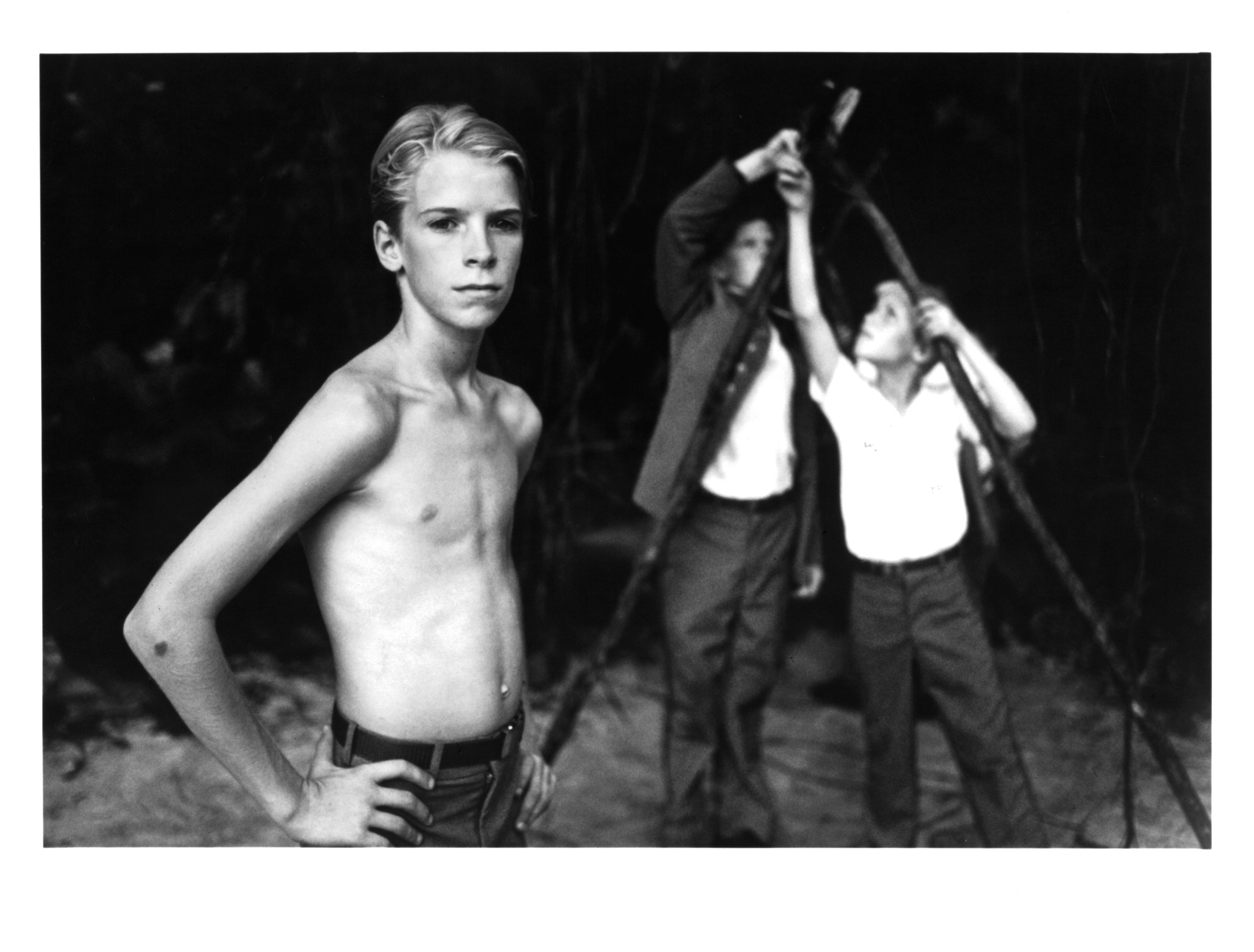 Chris Furrh stars in a scene from the 1990 movie