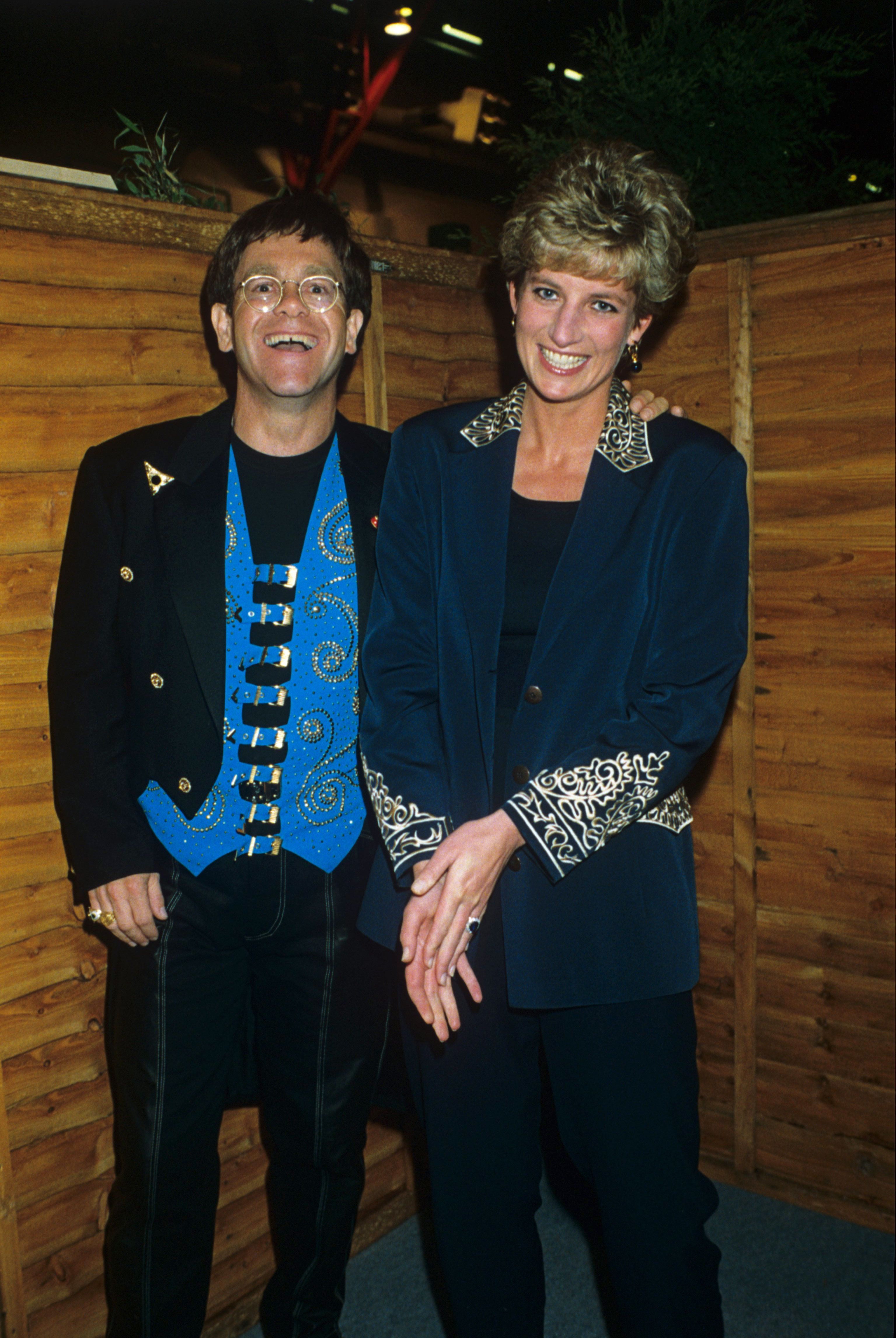 Elton John Leads Famous Faces Paying Tribute To Princess Diana, On The Anniversary Of Her