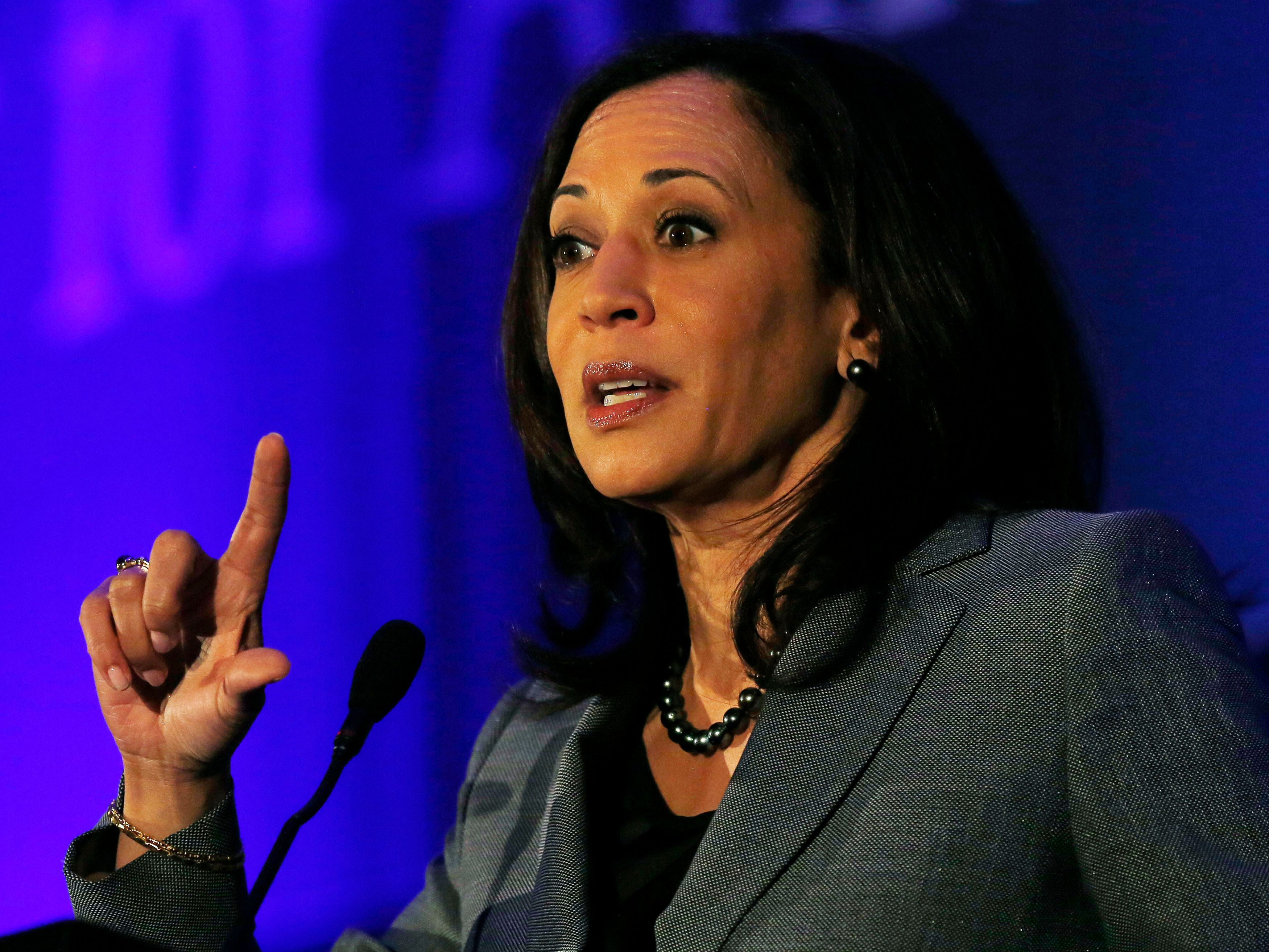 "Sen. Kamala Harris (D-Calif.) called single-payer health care the ""right thing to do"" on Wednesday."