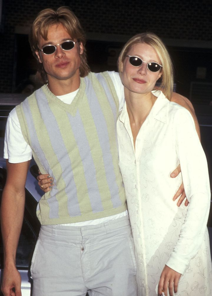 Paltrow and Pitt (above, in 1996) called off their engagement in 1997. The pair dated two and a half years.