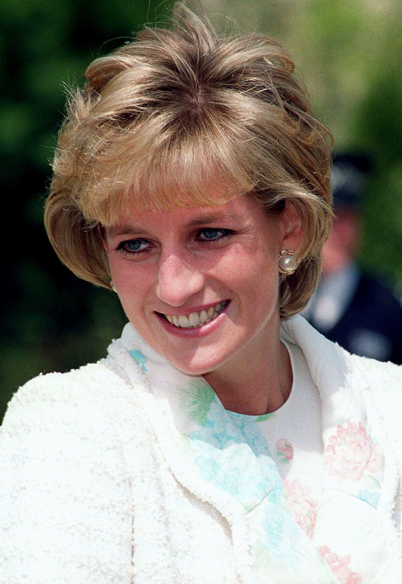 Diana Princess of Wales, Royal Patron for the International Spinal Research Trust (ISRT) meets PUSH 2000 athletes at Kensington Palace May 13. The charity was launching their biggest ever fundraiser, PUSH 2000, a wheelchair push from Land's End to John O'Groats